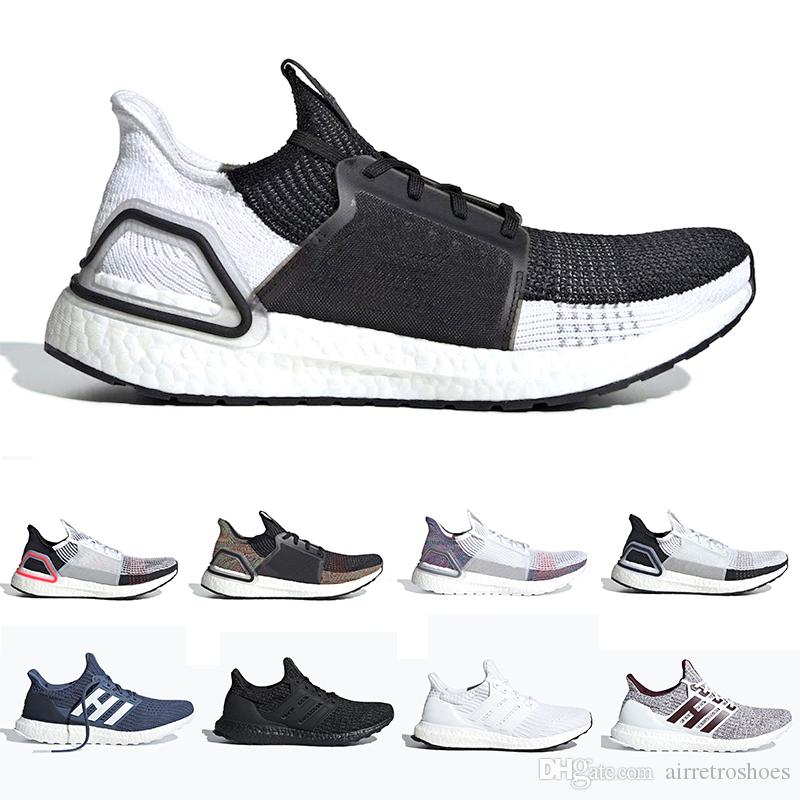 classic fit bb92b 98a39 Newest Cloud White Black Ultra Boost 2019 Ultraboost Mens Running Shoes  Refract Clear Brown Primeknit 4 Sports Trainer Men Women Sneakers Tennis  Shoes ...