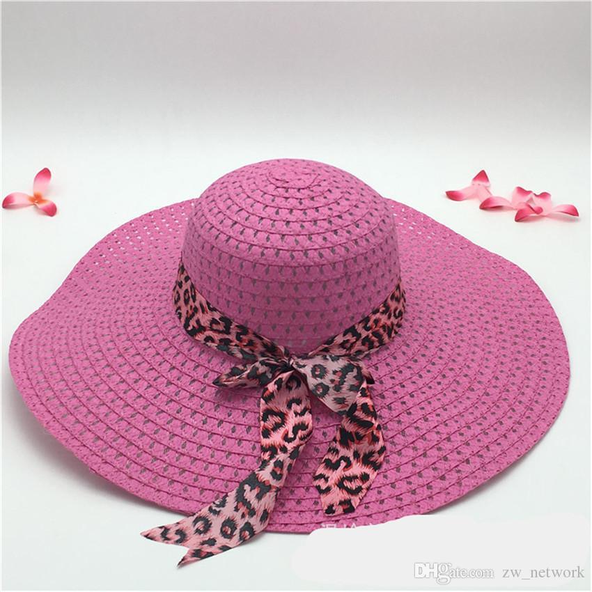 68f664b1a Wide Brim Floppy Fold Sun Hat Straw Hats Hollow Women straw Hats Ladies  Outdoor Foldable Beach Panama Hats Church Hat Bone Chapeu Feminino