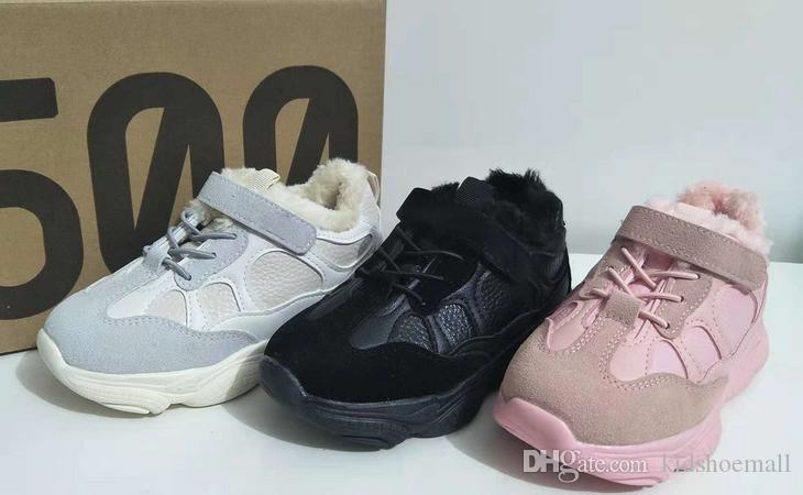 050175b87c2c With Box Kids Kanye West 500 Boosts For Youth Sneakers Boys Walking Girls  Athletic Child Sports Children Jogging Teenage Warm Winter Shoes Sports  Shoes For ...