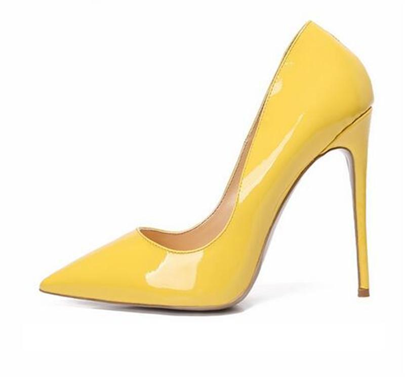 overseas2019 Woman Lady Yellow Leather Python Snake Stiletto Heels Shoes Boots