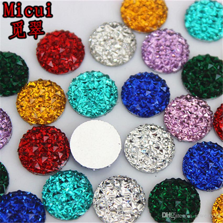 12 milímetros Cristal Resina Rodada Flatback Resina Strass Stone Beads Scrapbooking para Acessórios artesanato jóias ZZ222