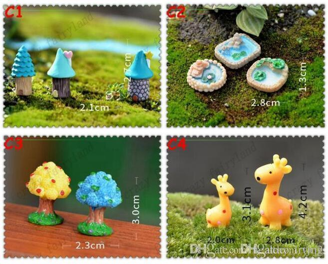Resin Garden Decorations Fairy Garden Miniature Figura carina Animal Tree House Artigianato Mini Tree Decor Landscape Ornament Fairy Garden