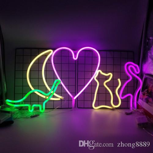 Led Night Light Love Heart Star Cloud Moon Cat Unicorn Marquee Letter Lamps For Party Wedding Birthday Christmas Home Decoration A Great Variety Of Goods Lights & Lighting Led Lamps