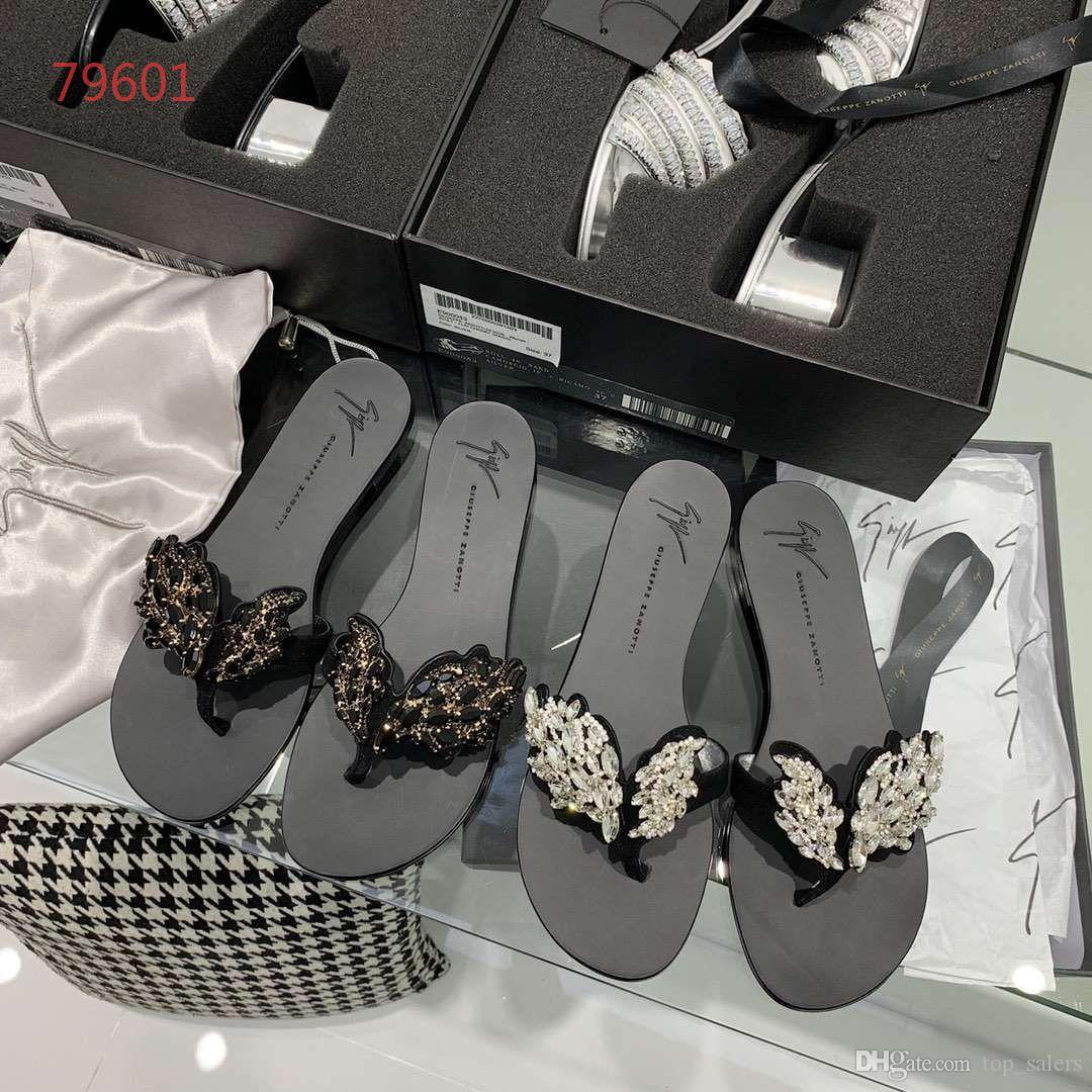 luxury designer girls slippers outdoor shoes sandal flat heel decorate with wing size 35 -39 summer
