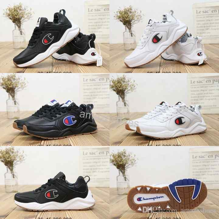 fb3ae1e6e14dbd 2019 2019 Fashion New Champion 93Eighteen Suede Chenille Logo Women Mens  Luxury Designer Sports Casual Sneakers Running Trainer Chaussures Shoes  From ...