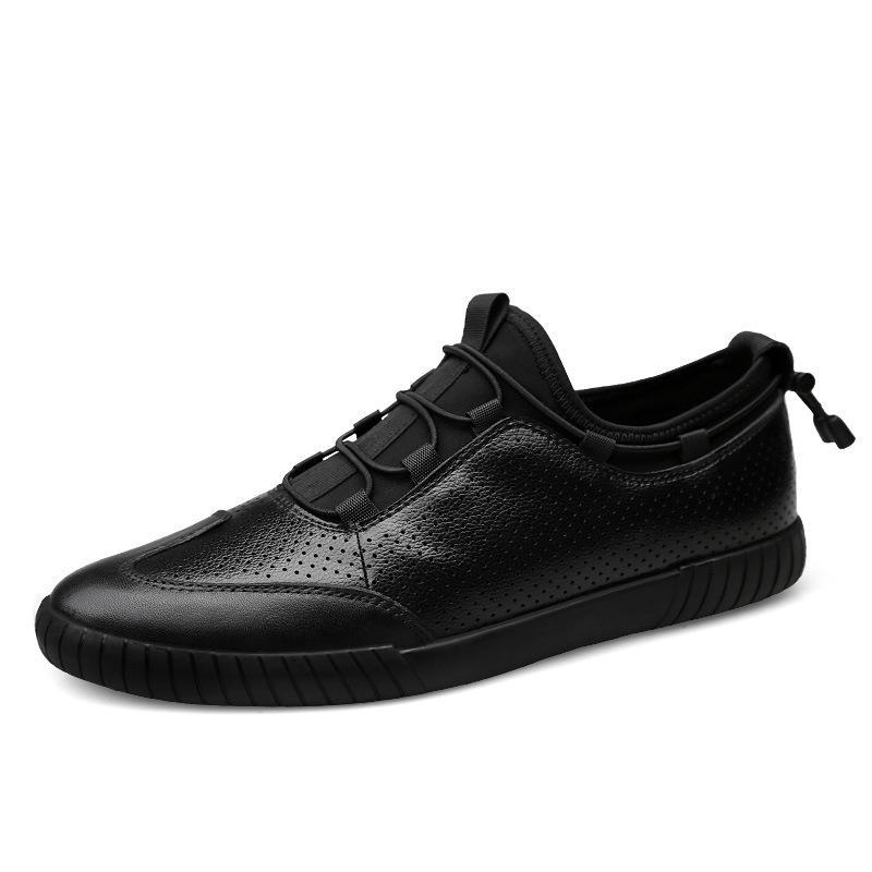15e82fb09 Compre Senhor Sorriso Homens De Couro De Vaca Genuína De Borracha Lace Up  Sapatilhas Oxfords Caminhadas Tenis Casuais Plana Oxford Sapatos Masculinos  ...