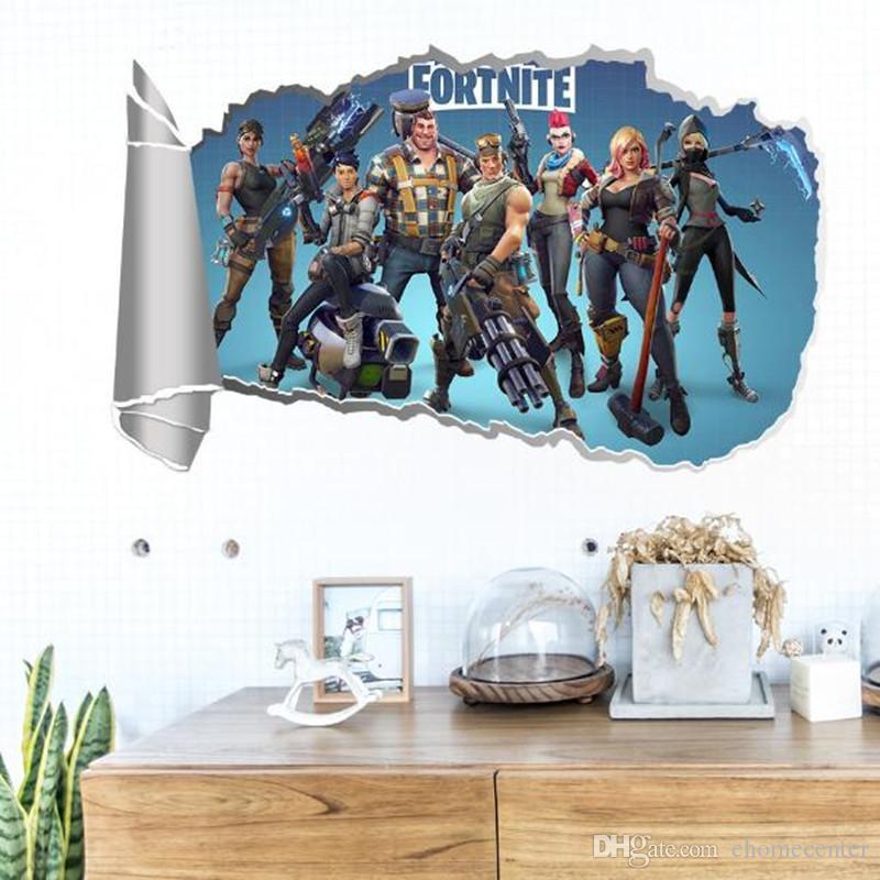 Acheter Enfants Chambre 3d Fortnite Jeu Pvc Stickers Muraux Decal