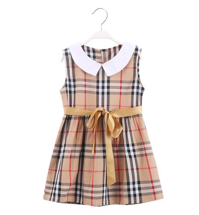 4fa4771f7f365 retail new girls dress summer kids dress for baby girl princess cotton  party children clothes Children's dresses 2Y-6Y
