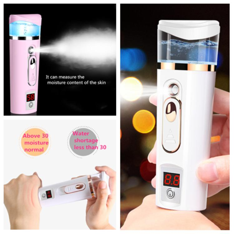 hot USB charging Nano moisture measuring instrument humidifier fashion Facial Steamer atomizer facial hydrating beauty instrument T2I5166