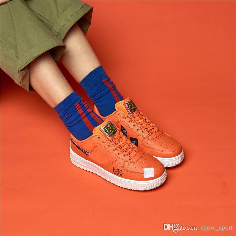 best service e482b 9c404 Acheter Nike Air Force 1 Chaussures De Skate Pour Hommes, Faites Le 2018  Designer Nouveau Chaussures De Course Pour Hommes, Femmes Forces Basses  Baskets De ...