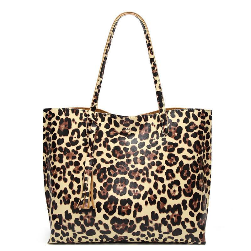 d704fd7b21c1 Good Quality 2019 Winter Pu Leather Handbag Big Capacity Vintage Printed  Leopard Solid Hasp Shoulder Bag For Women Shopping Tote Pink Handbags  Branded ...