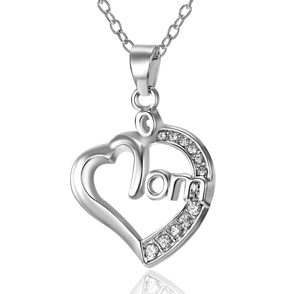 b294d164b 2PC/Set Mother's Day Valentine's Day Necklaces&Pendants Hollow Letter  Stitching Best Friends Necklace Ladies Birthday Gift. Jewelry sales