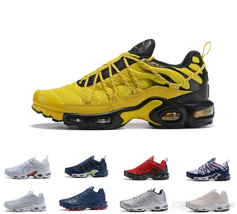 buy popular bbb65 7dcf1 Acheter 2019 Top Air Nike Air Max Airmax AIRMAX Plus TN Champagnepapi  Mercurial Plus Tn Ultra SE Noir Blanc Orange Chaussures De Course Plus TN  Chaussure ...