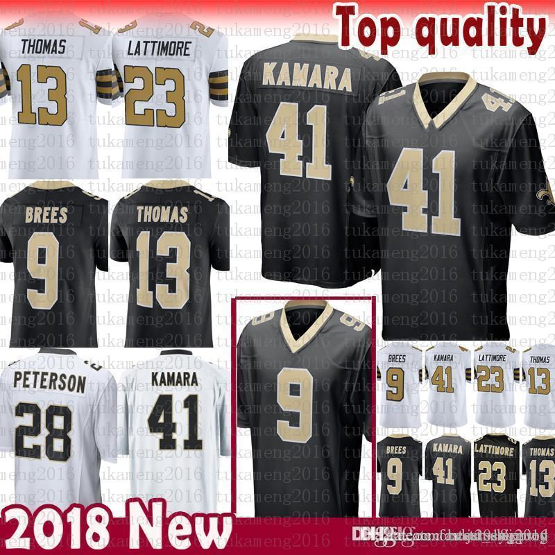 873dba7d2 New Orleans Saints 9 Drew Brees 41 Alvin Kamara Jersey 13 Michael ...