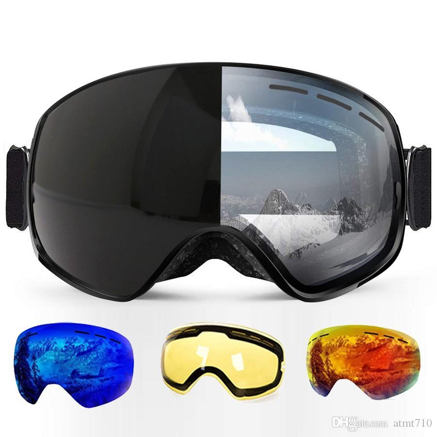 1046e4732e5 Ski Goggles Photochromic Clear Skiing Glasses Airsoft UV Protection ...