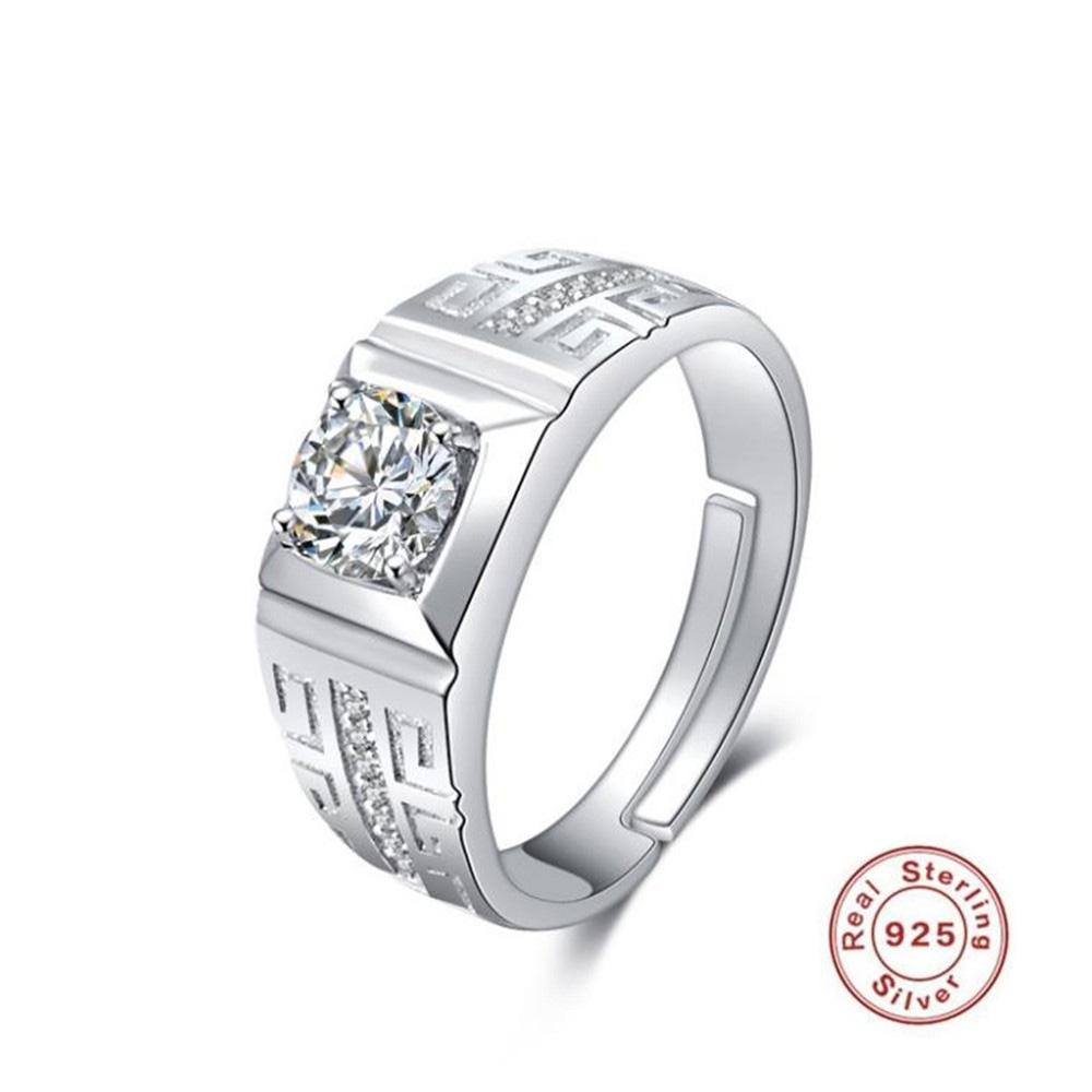 2aed79a7343674 2019 S925 Sterling Silver Ring Men's And Women's with Domineering ...
