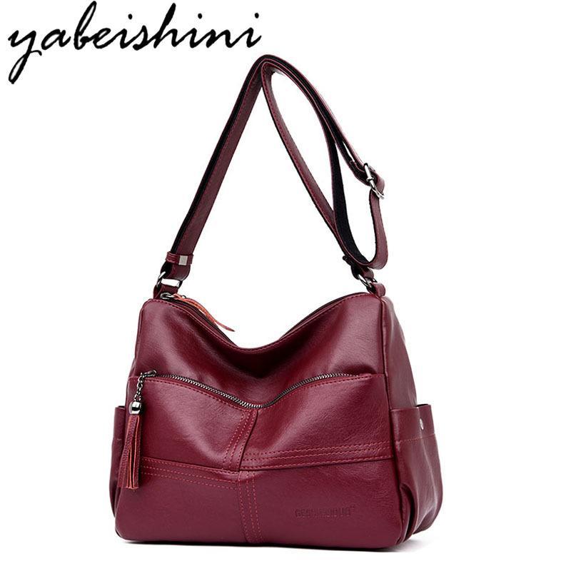 d10643b49b44 2019 Fashion Bolsa Feminina Top Handle Bags Women Leather Handbags Women  Famous Brands Female Casual Shoulder Bag Tote For Girls SAC A Main Designer  Bags ...