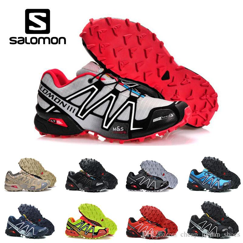nouveau style 4eabc e24b3 New Salomon Men Shoes zapatos hombre Speed Cross 3CS III Sport Sneakers Men  Black outdoor athletic Speedcross Solomon running Shoes