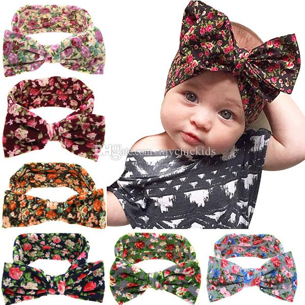 Baby Headbands Turban Knotted Floral Girl S Hairbands Infant Newborn  Children Cotton Jersey Headband Accessories Wrap Kid Hair Accessories Hair  Accessories ... 7cf61b1ea32