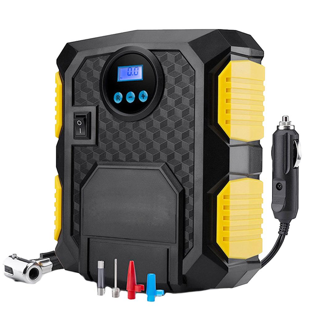 12V Automatic Car Tire Air Pump Digital LED Screen Display Intelligent Portable Car Wheel Inflator