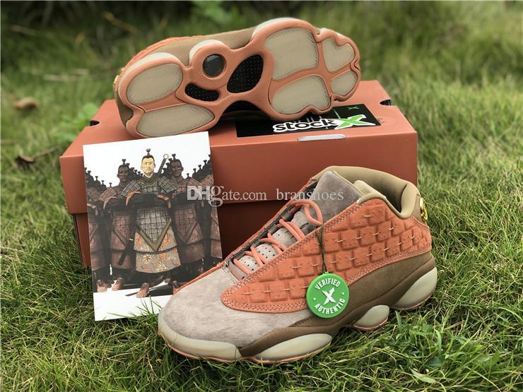d5c9d3335d6 2019 Designer Authentic Clot X 13 Men Basketball Shoes Low Sepia Stone 13  Canteen Terra Blush Carbon AT3102 200 Trainers With Original Box Shaq Shoes  Kd ...
