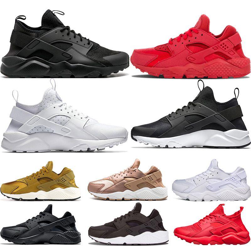 c61e4d3208ae Mens Huarache Running Shoes 1.0 4.0 Women Triple White Black Fashion ...