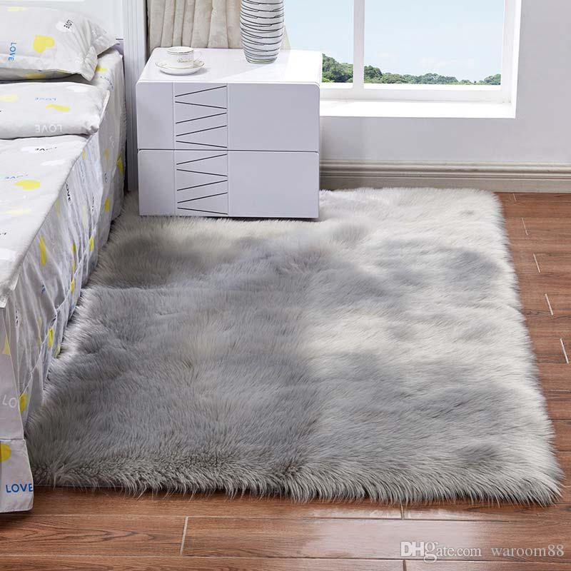 Luxury Soft Woolen Carpet Rugs Bedside Room Bedroom