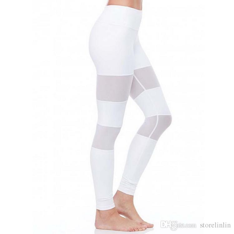 gym Ma'am fashion sexy Quick drying Hip lifting Ventilation Sweat absorption motion Gauze Splicing Bodybuilding Yoga pants