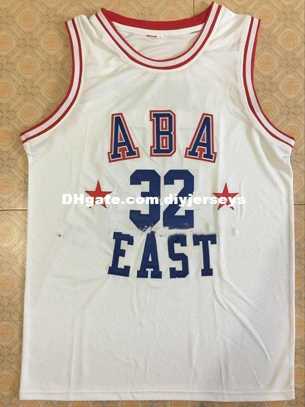 #32 JULIUS ERVING ABA EAST Basketball Jersey White red Custom any Number and name Jerseys XS-6XL vest Jerseys NCAA