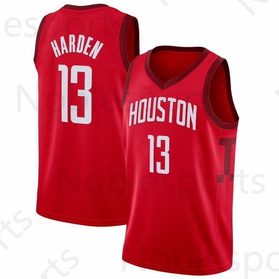 be41ba608a2a 2019 Embroidery Houston James 13 Harden Jersey Rockets 3 Chris   Paul 7  Carmelo   Anthony Basketball Jerseys From Noblesports