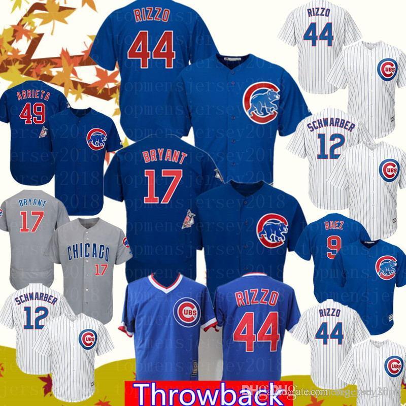 1ac7ac913 2019 Chicago Jersey Cubs 44 Anthony Rizzo 17 Kris Bryant Baseball Jerseys  Mens 12 Kyle Schwarber 9 Javier Baez 23 Ryne Sandberg Cheap Sales From ...