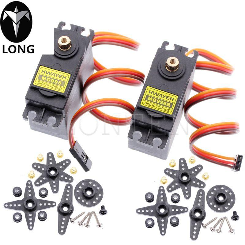 Longteng 13KG 15KG Servos Digital MG995 MG996 MG996R Servo Metal Gear for Futaba JR Car RC Model Helicopter Boat For Arduino UNO Diy