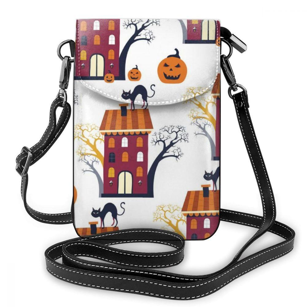 wholesale Customized Halloween Print Wallet Portable Bags Case for Samsung Shoulder Bag Holster Hanging Crossbody Phone Bags