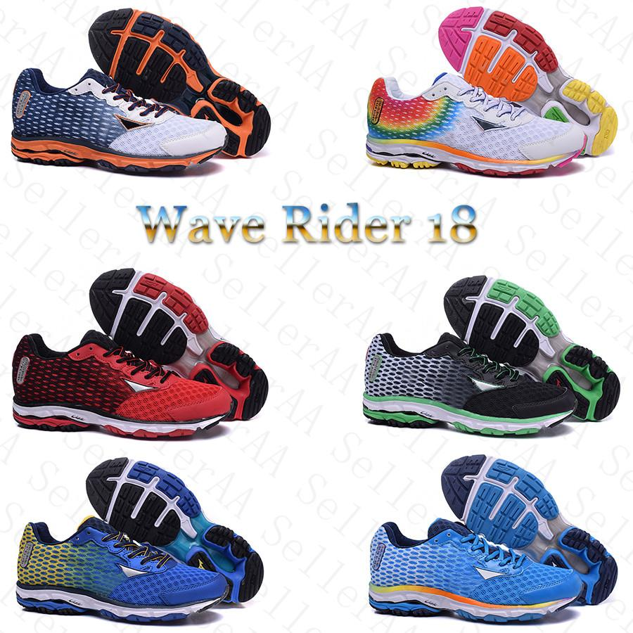 Mens Wave Rider 18 Designer Shoes Marathon Limited Edition High Quality Running Shoes Outdoor Zapatos Trainer Sports Chaussures Sneakers