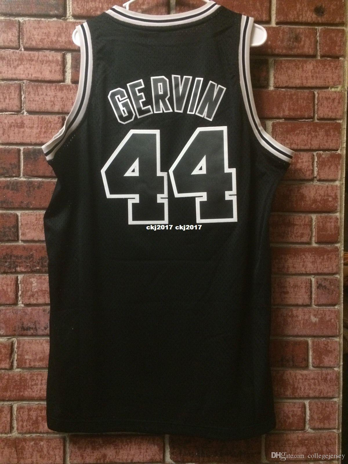 Cheap wholesale George Gervin #44 Jersey AD Sewn Mens T-shirt vest Stitched Basketball jerseys Ncaa