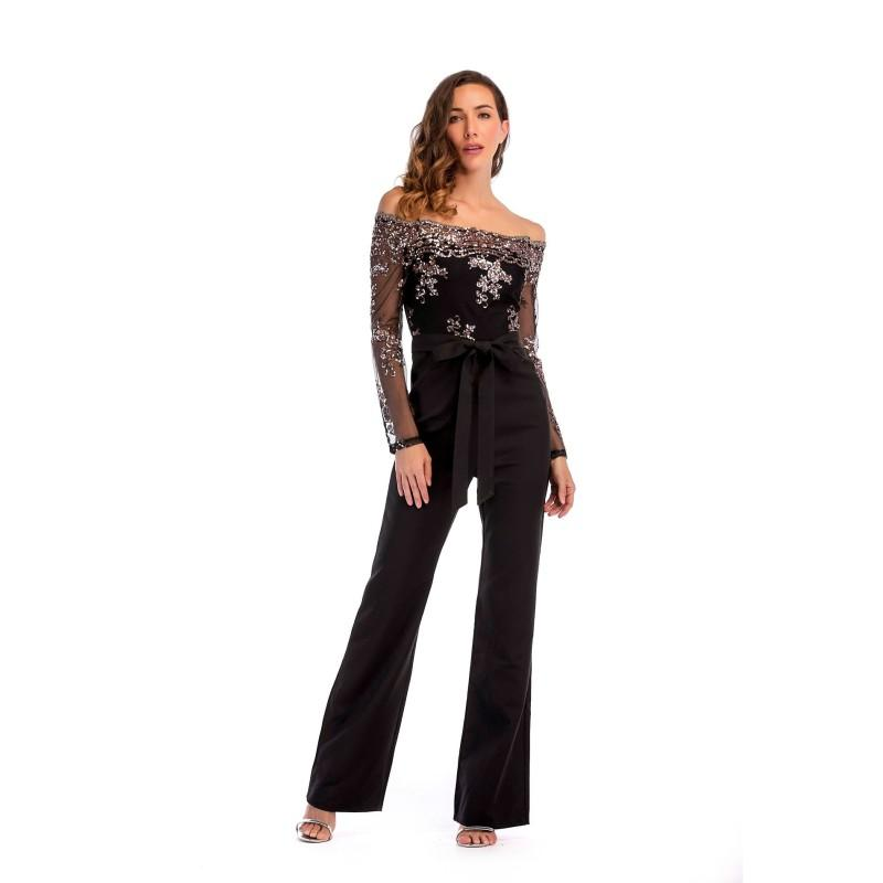 a2a0395812b8 2019 Zmvkgsoa Ruffle Rompers Womens Jumpsuit Sleeveless Summer Office  Elegant Wide Leg Pants Jumpsuit Female Overalls Y10463 From Cutelove66