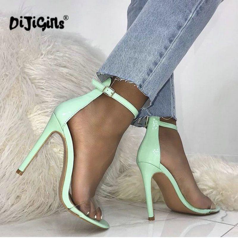 699bac6f21c Dropship PVC Transparent Women Sandals Clear Open Toe High Heels Summer Ankle  Strap Women Pumps Fashion Party Shoes Black Wedges Platform Shoes From ...