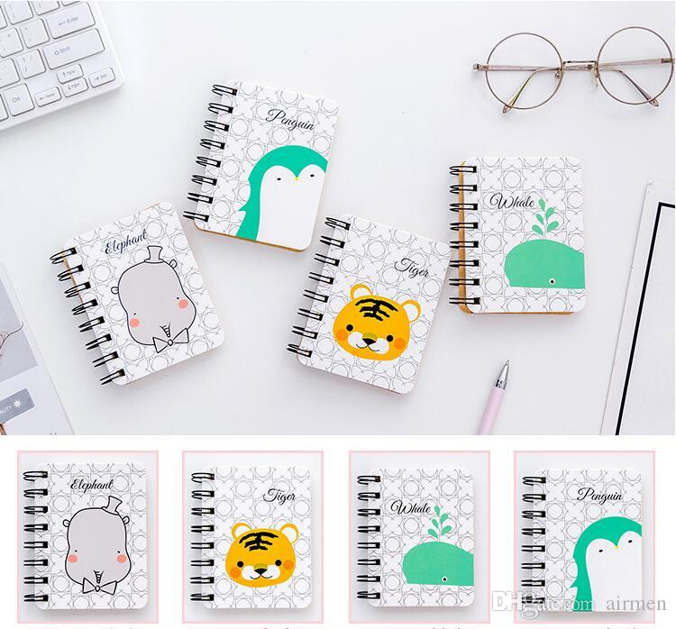 Kawaii Stationery Rollover Portable Coil Notebook Notebook With Mini Creative Pocket Notepad Diary Office Study Supplies Book