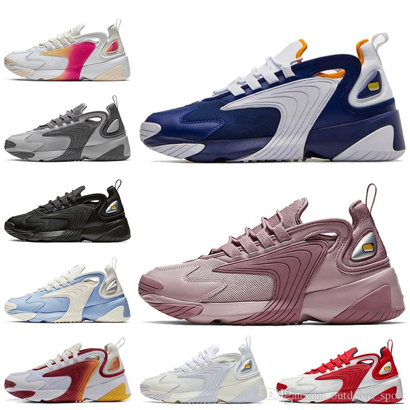 Cheap Sale Zoom 2K 2000 Running Shoes OFF Barely Rose Royal Blue Triple White Black M2K Tekno Mens Trainers Women Designer Sneakers
