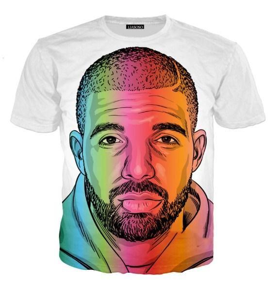 03b608bf3 New Fashion Womens/Mens Hip Hop Singer GOD'S PLAN Drake Funny 3d ...
