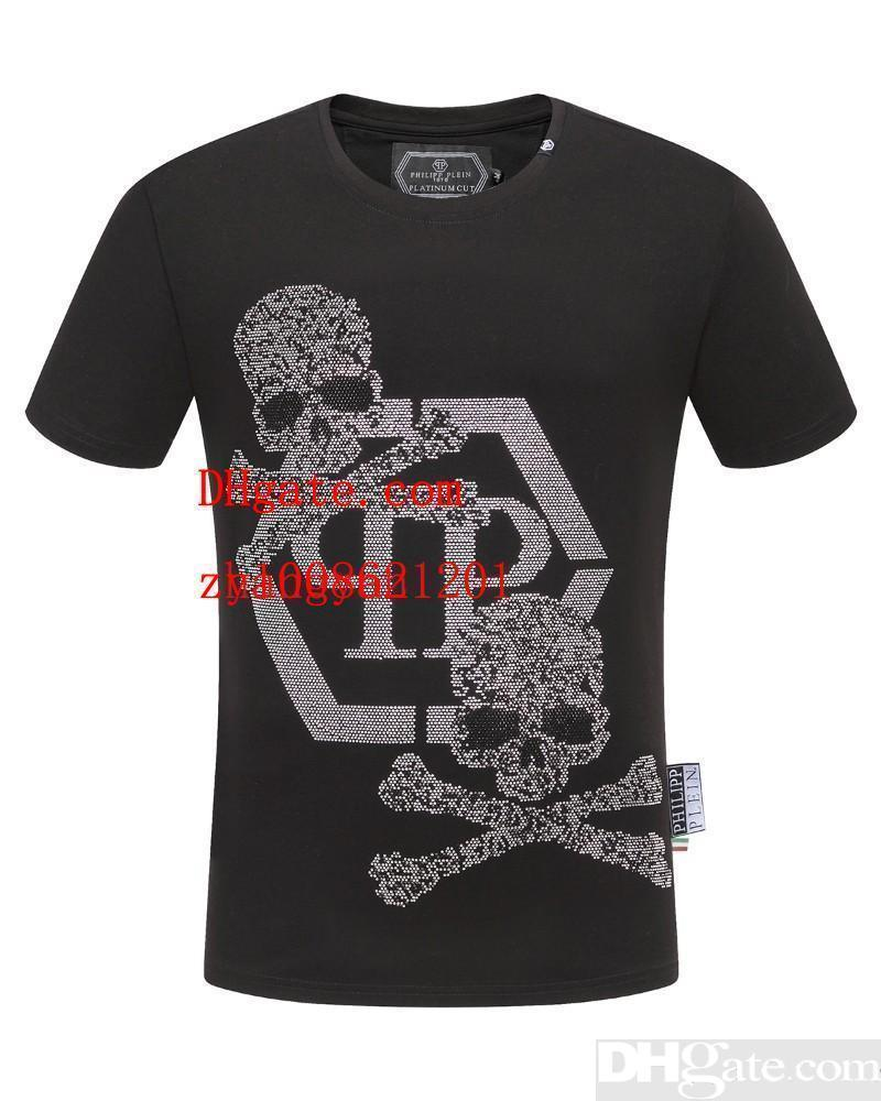 2019 New Fashion Summer MensT Shirt Abbigliamento uomo Skull stampa manica corta Casual movimento Mens Top Tee Shirt Menstshirts