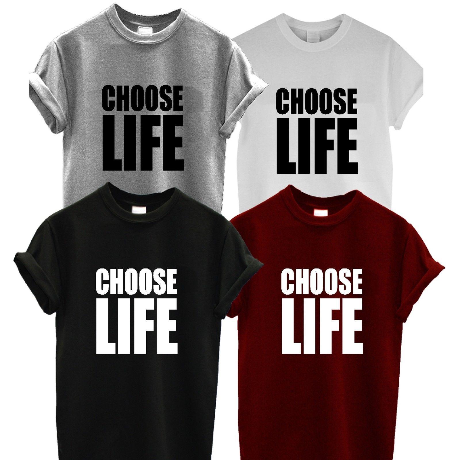 0ae209dde CHOOSE LIFE T SHIRT UNISEX Tee Top Wham Retro Fancy Dress George Michael  80's XX Funny free shipping Unisex Casual gift