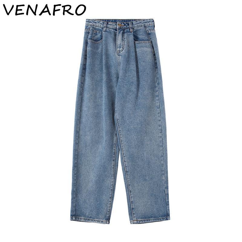 new style 89235 40c93 Jeans estivi da donna a vita alta in denim stile anni 60 nuovi 2019