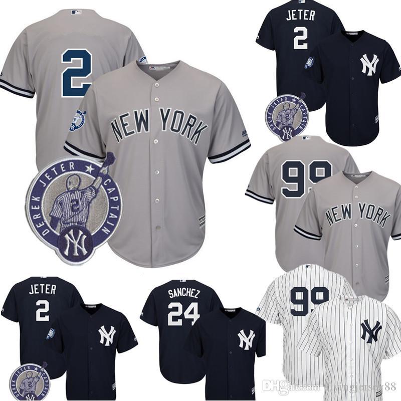4e330886d Compre New York Yankees 2 Derek Jeter Jersey Majestuoso Fresco Base ...