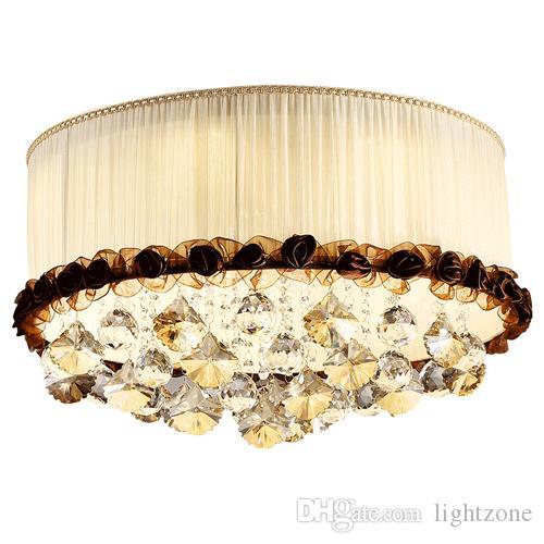 Acheter Nouveau Design Cristal Plafonnier Lustre Lampes Chambre Moderne Led Lampes  Créatif Fleurs Salle De Mariage Plafond Lustres Chauds Luminaires De ...