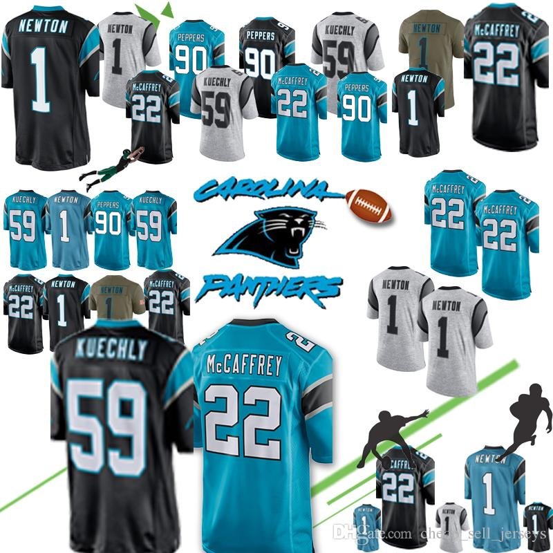 quality design 66bc6 677bc new Carolina Jersey Panthers 22 Christian McCaffrey 1 Cam Newton 59 Luke  Kuechly 90 Julius Peppers 88 Grey Olsen 58 Davis 13 Benjamin