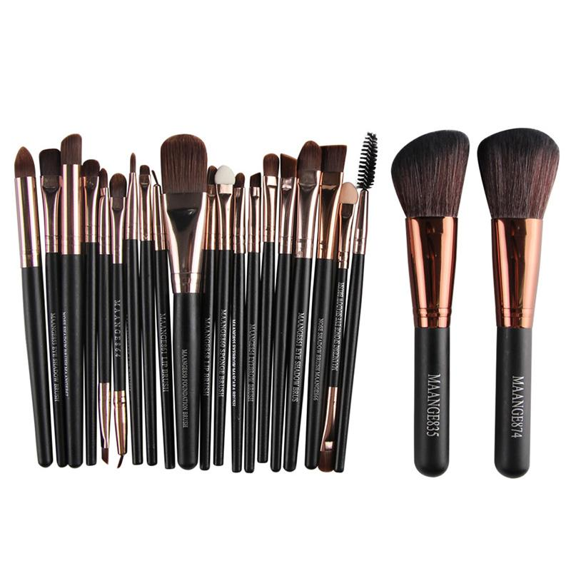 MAANGE 22Pcs Makeup Brushes Kit Eyeshadow Eyeliner Eye Lashes Lip Foundation Power Cosmetic Make Up Brush Beauty Blending Tool DHL 3001333