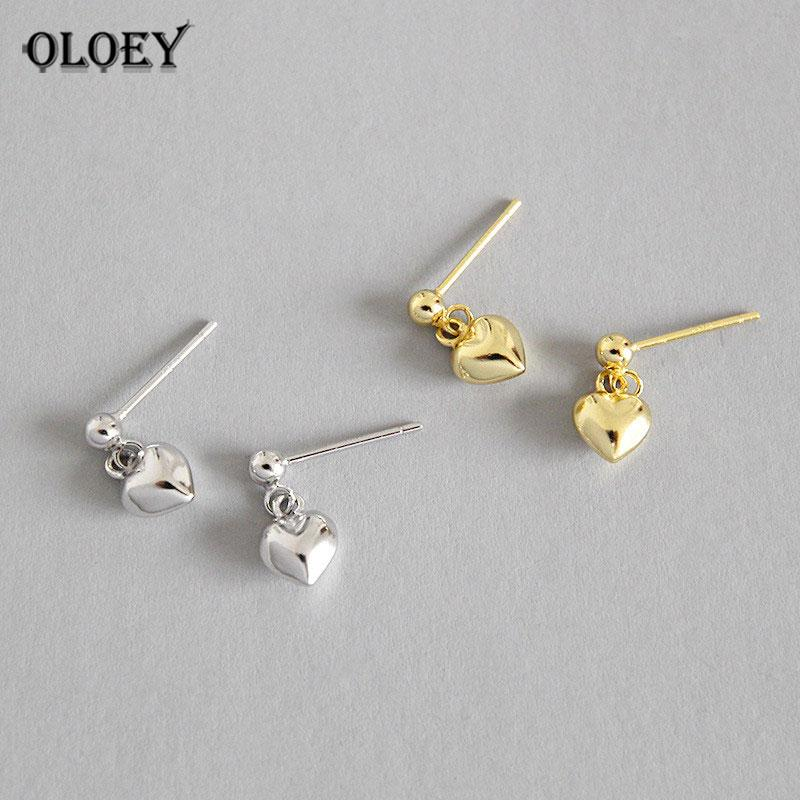 ce089dd86 OLOEY 100% Real 925 Sterling Silver Earrings for Women Girls Lovely ...