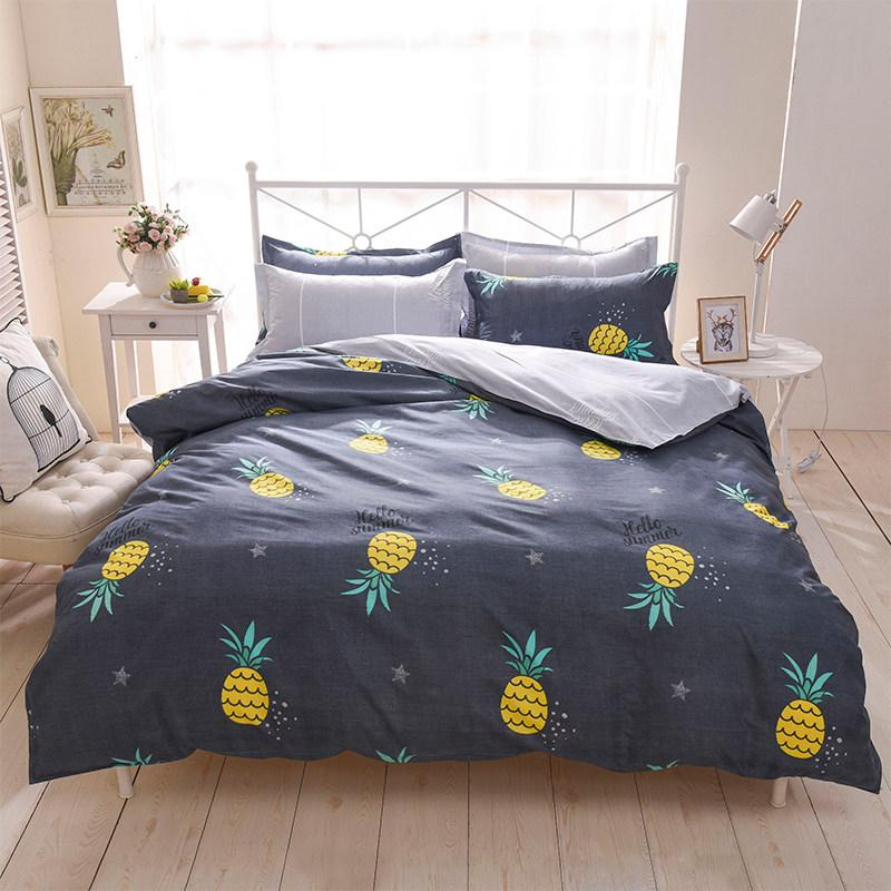Fashion Flower Fruit 3/4pcs Bedding Sets/bed Set/bedclothes for Kids/bed  Linen Duvet Cover Bed Sheet Pillowcase Twin Full Queen
