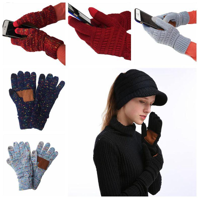 f85944994503a Knitted Gloves Capacitive Touch Screen Gloves Women Winter Touch Screen  Five Fingers Gloves  pair CCA10764 Knitted Gloves Touch Screen Gloves Five  Fingers ...